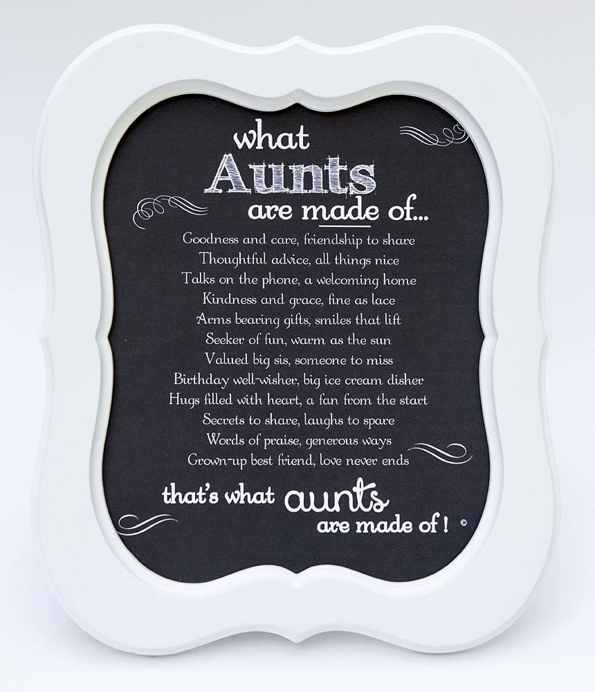 aunt frame aunts made of
