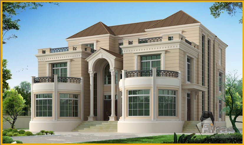 فيلا وقصور فاخرة 3 من Firas Eng Village House Design Mediterranean House Designs Luxury Exterior