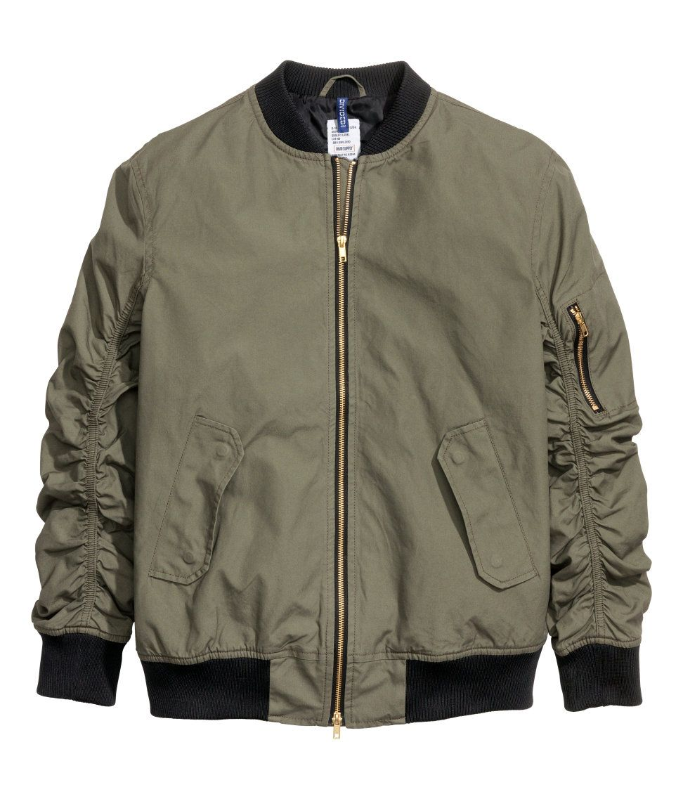 4571c967a Pilot Jacket | H&M Divided Guys | H&M MAN DIVIDED | Green bomber ...