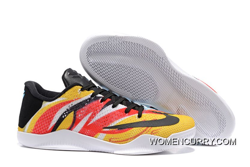 "Nike Kobe 11 Elite Low ""Sun WuKong"" Mens Basketball Shoes Authentic ... 29ca21670"