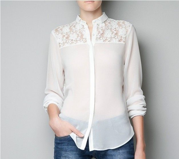 2013 spring new Ladies' white fashion blouse women's long sleeve ...