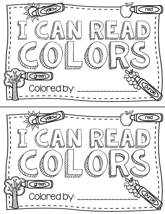 Color word book: Cute! Free printable by following the