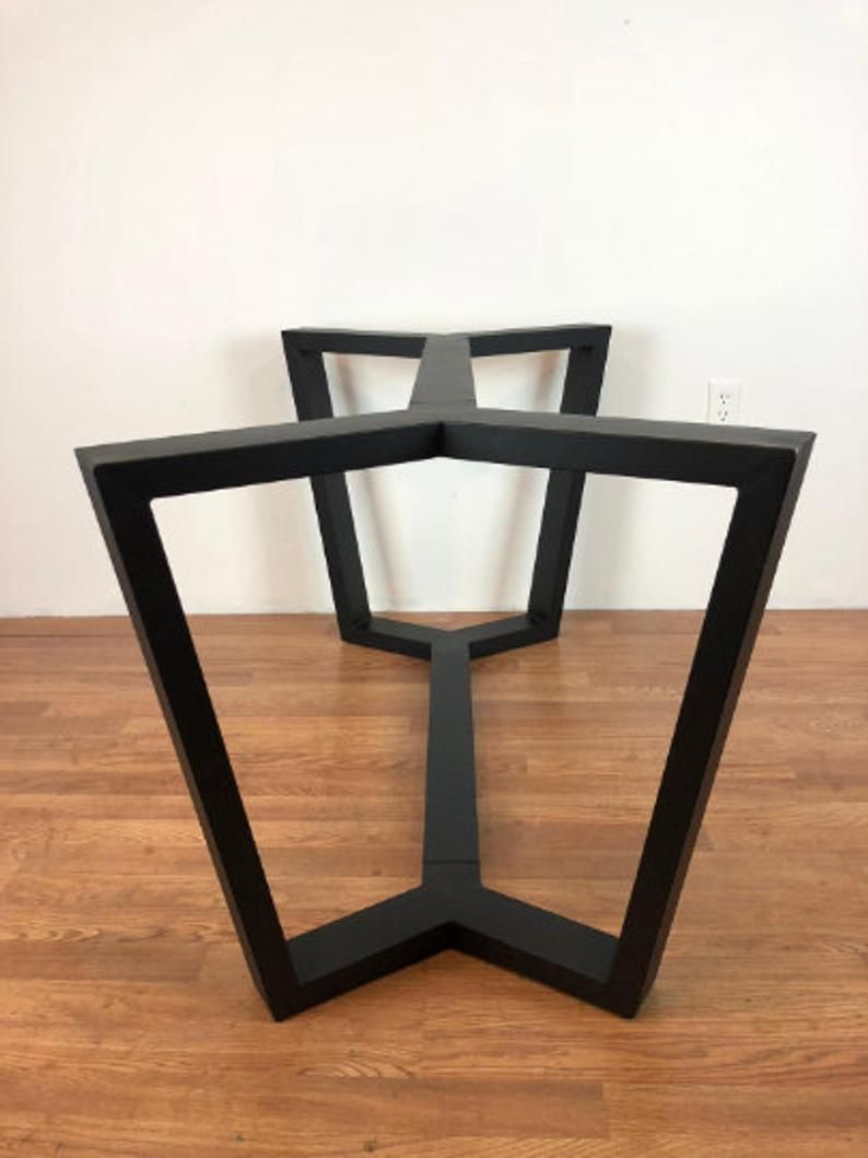 Pedestal Metal Table Base Legs Black For Wood Table Top Quartz Table Top Granite Table Top Marble Table Top Modern Contemporary Jax In 2020 Metal Base Dining Table Metal Table