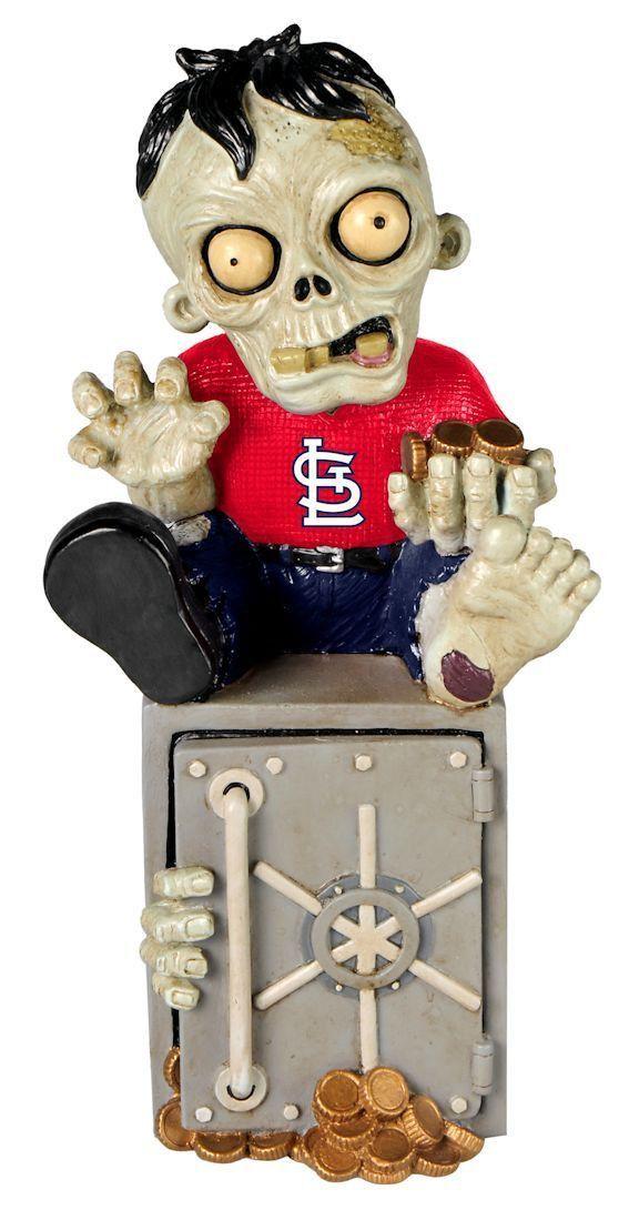 St. Louis Caridnals Zombie Figurine Bank