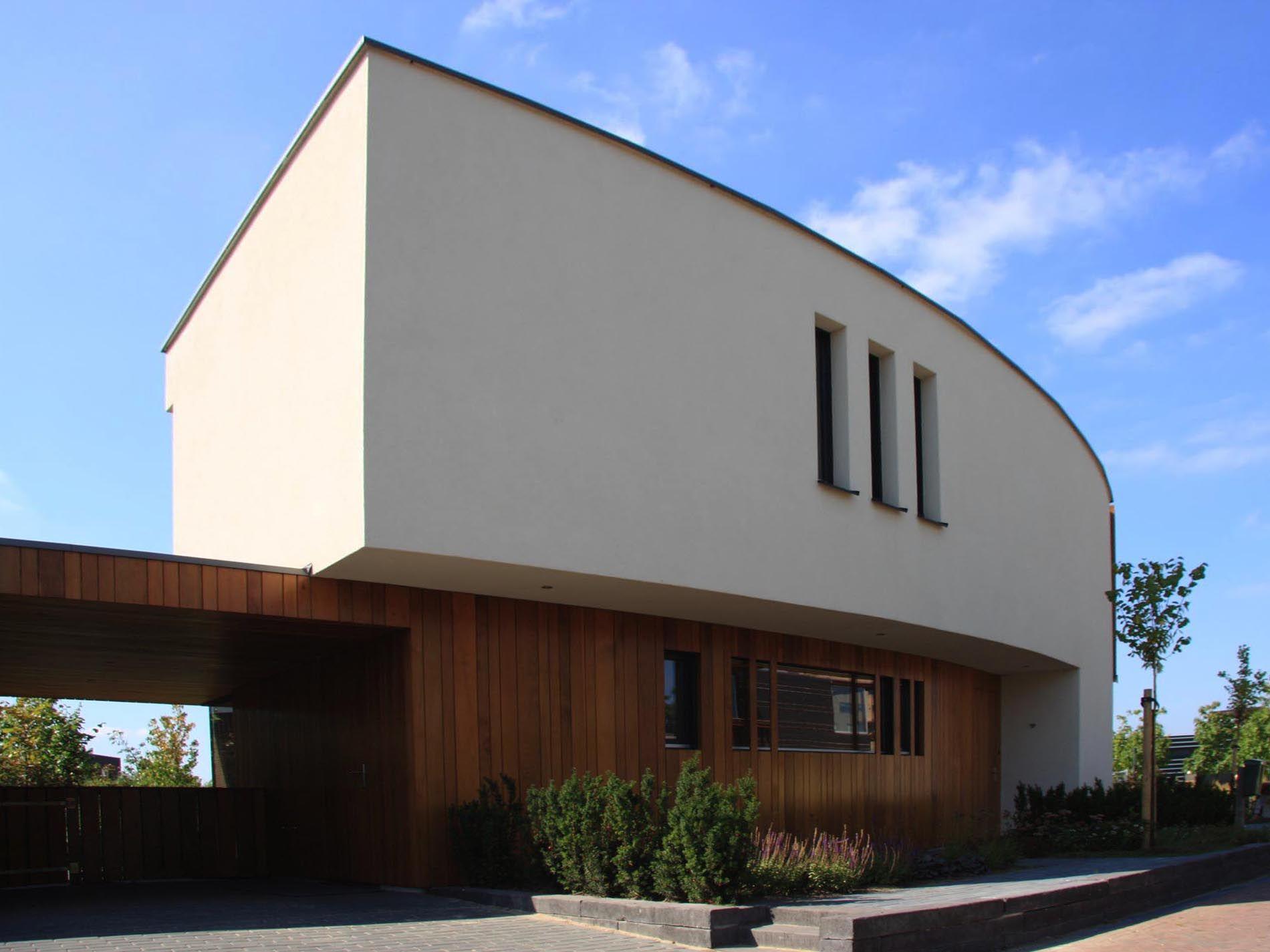 Maas architecten woonhuis enschede stucwerk modern villa
