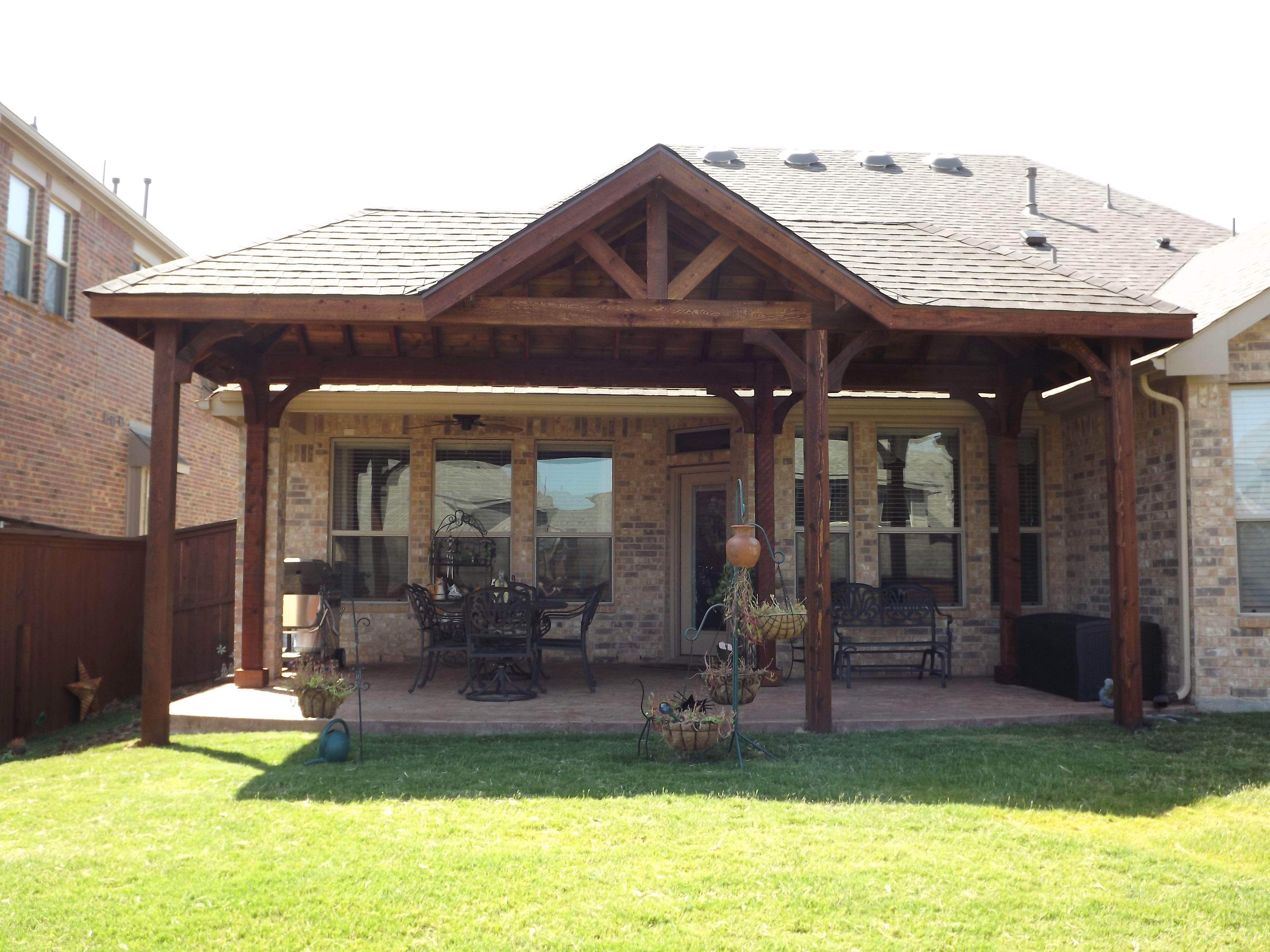 Trophy club tx patio cover by c3 backyard oasis llc
