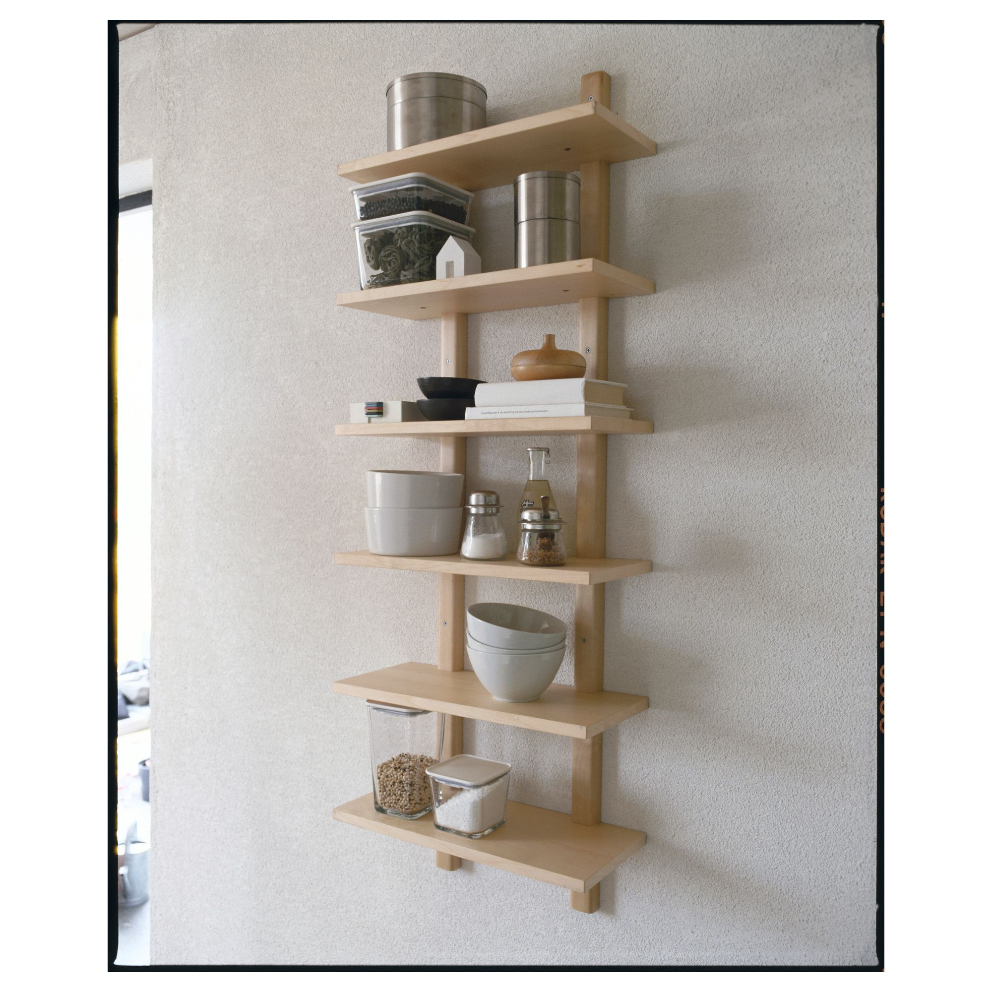 VÄRDE Wall shelf Birch 50x140 cm | Regale, Birken und Kunst