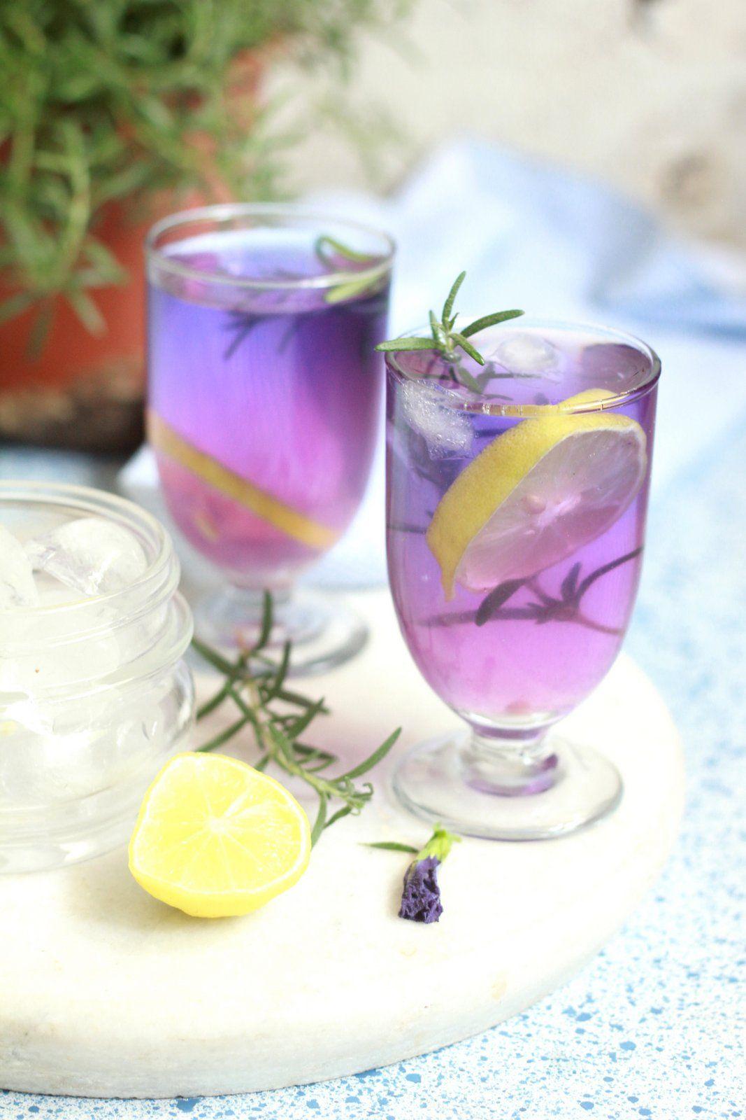Blue Tea (butterfly pea flower tea) Recipe Butterfly