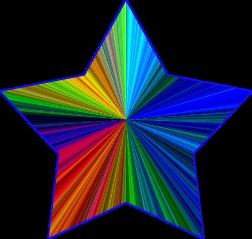 rainbow stars clipart clipart panda free clipart images the rh pinterest com Blue Star Clip Art Cheer Clip Art Stars