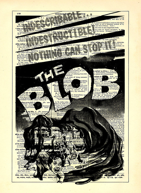 The Blob Retro Horror Movie Poster, Home, Kitchen, Office