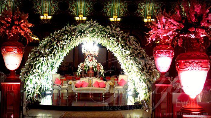 Fantastic Floral Hut Pakistani Stage Decoration Design