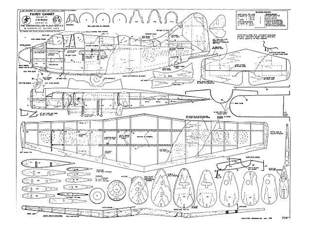 Outerzone : Fairey Gannet plan : download free vintage model