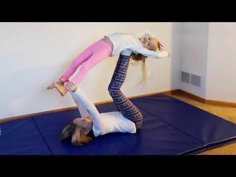 nicole and her sister maddy attempt to recreate some yoga