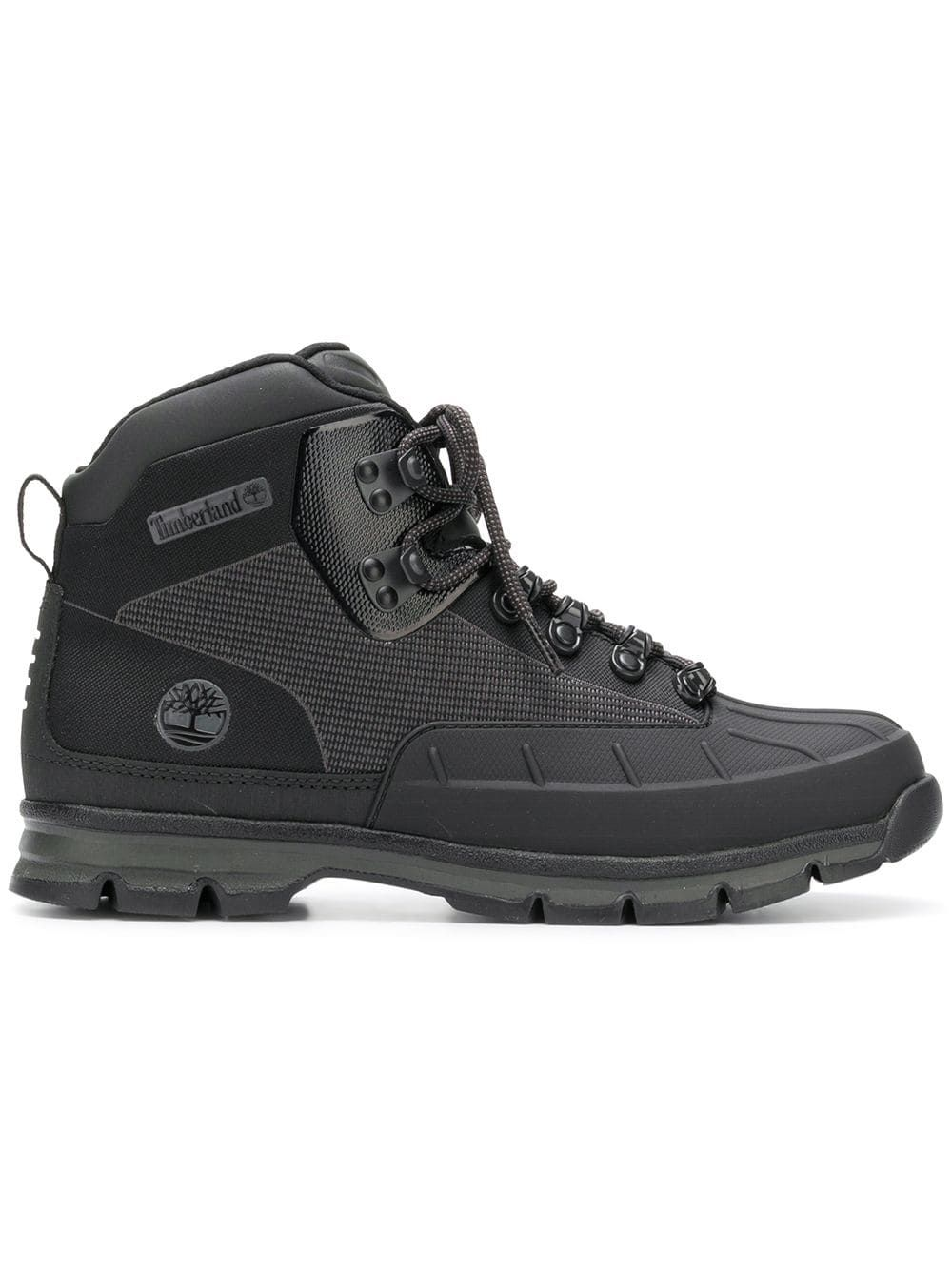 1554a923 TIMBERLAND TIMBERLAND LACE-UP TRECKING BOOTS - BLACK. #timberland #shoes