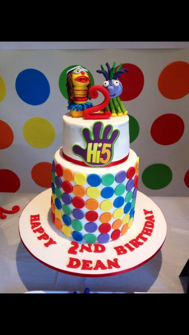 Hi 5 Cake 5th Birthday Party Ideas Decorations Themes Happy