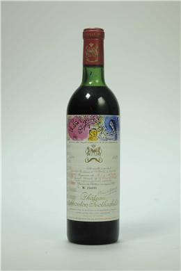 Château Mouton-Rothschild 1970 Pauillac, 1er cru classé Label designed by #Chagall #wine