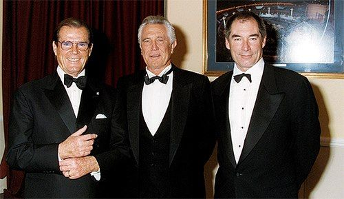 Timothy Dalton With George Lazenby And Roger Moore James Bond
