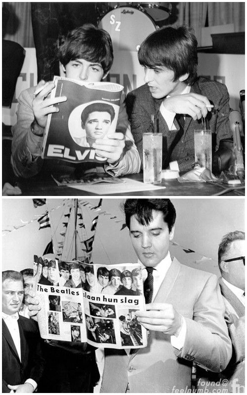 The Day The Beatles Met Elvis Presley | The beatles, John lennon ...