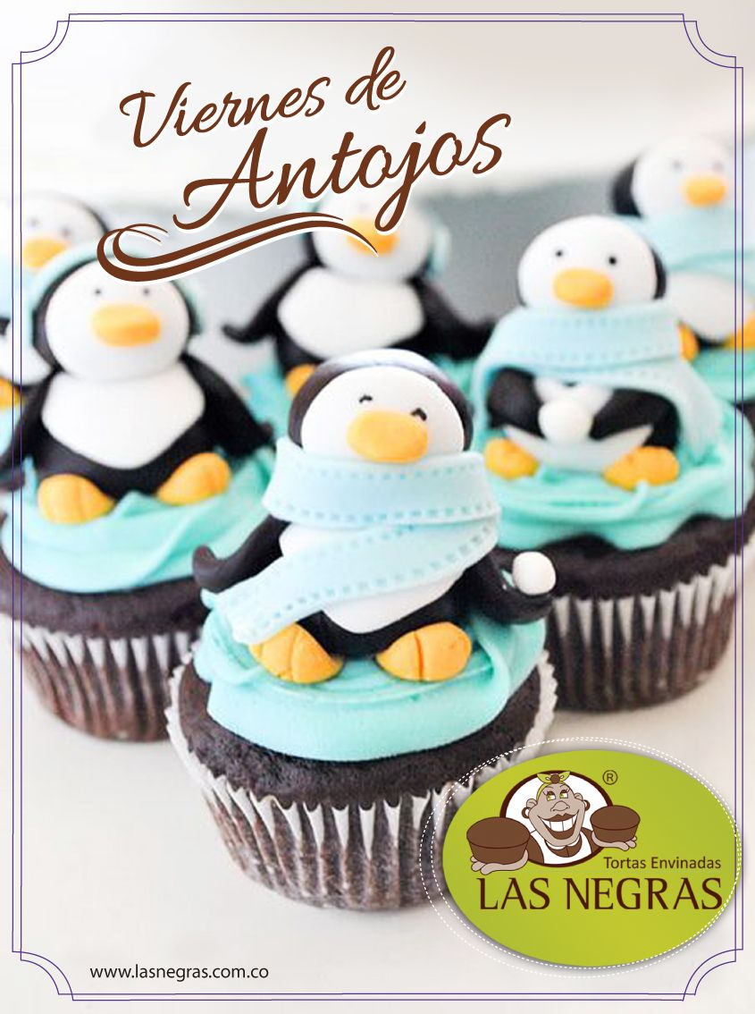 #ViernesDeAntojos disfruta de unos ricos Cupcakes pingüinitos!!
