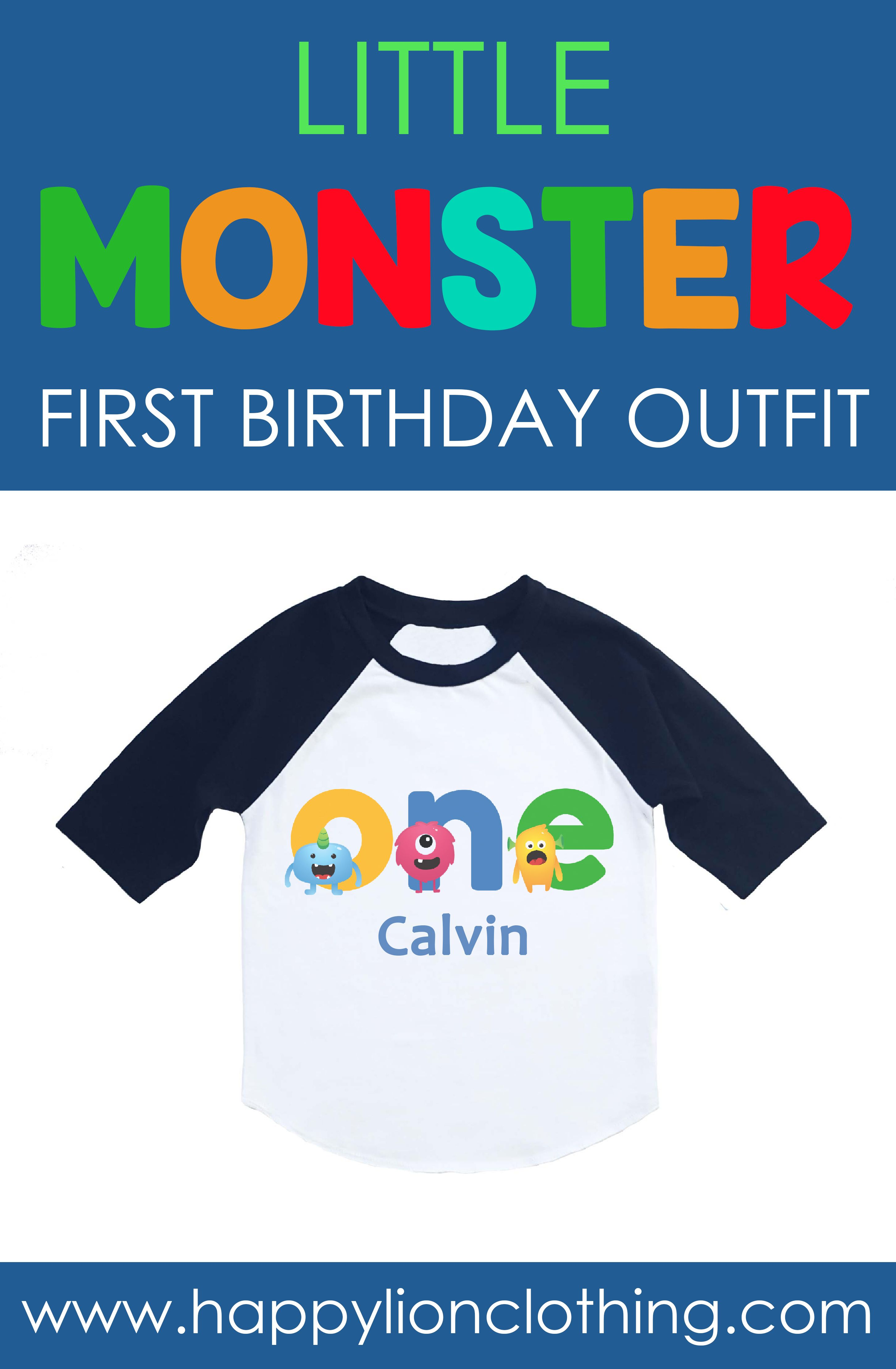 99cd4df6 Looking for monster 1st birthday ideas?This personalized little monster  shirt would make the perfect