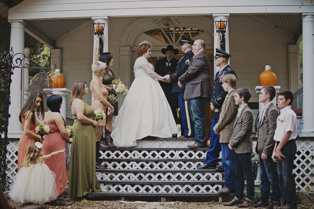 DIY, Glittery, Pumpkin Filled Fall Wedding In The Woods