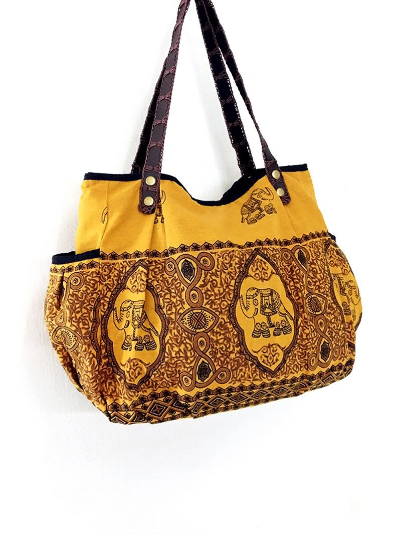 Women bag Handbags Thai Cotton bag Elephant bag Hippie bag