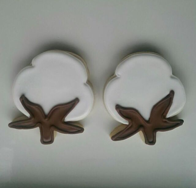 Cotton Boll Cookies From Whimsy Cookie Company In Memphis