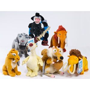 Ice Age 4 Continental Drift Bean Bag Stuffed Animals From Just Play Ice Age Continental Drift Ice Age 4