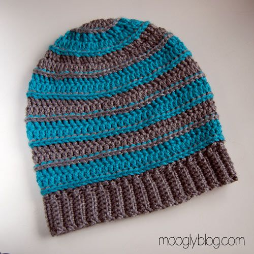 Free Pattern: All Grown Up Striped Slouch Hat | Pinterest | Beanie ...