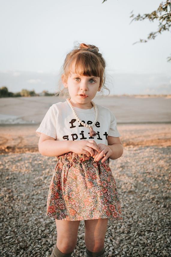 Free Spirit Toddler Shirt, Organic Toddler Tee, Unisex Kids Clothing, Boho Kids Clothes, Hippie Kids T-Shirt, Minimalist Toddler Outfit