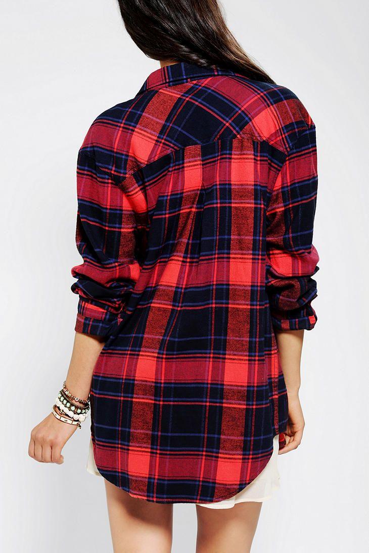 Flannel shirt with shorts  BDG Frankie Boyfriend Flannel Shirt  style  Pinterest  Flannel