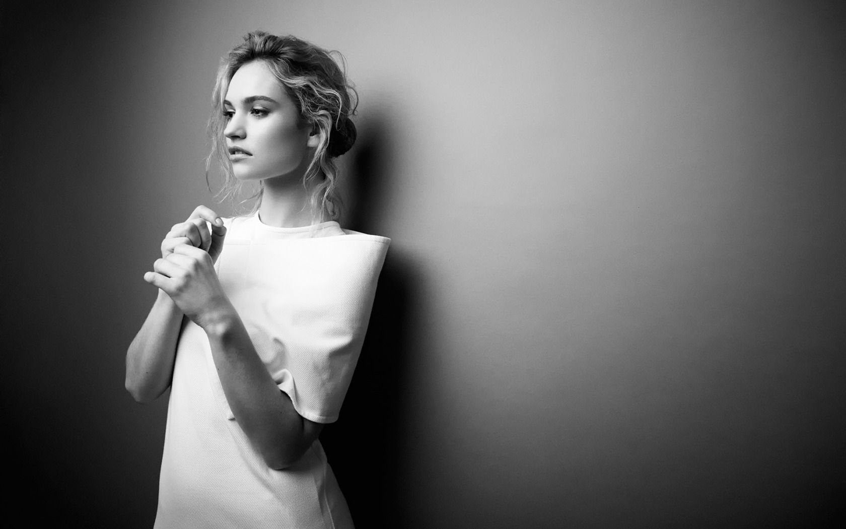 Lily James Hd Hd Wallpaper Lily James Actress Lily James Black And White Portraits