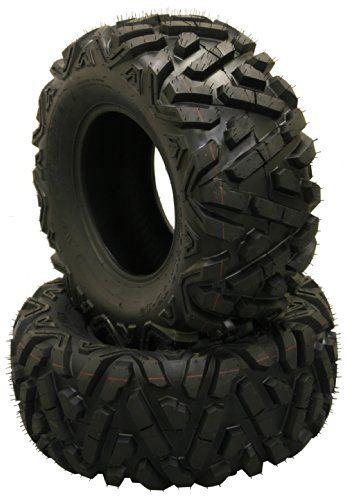 Set of 4 New WANDA ATV/UTV Tires 25×8-12 Front & 25×10-12 Rear /6PR