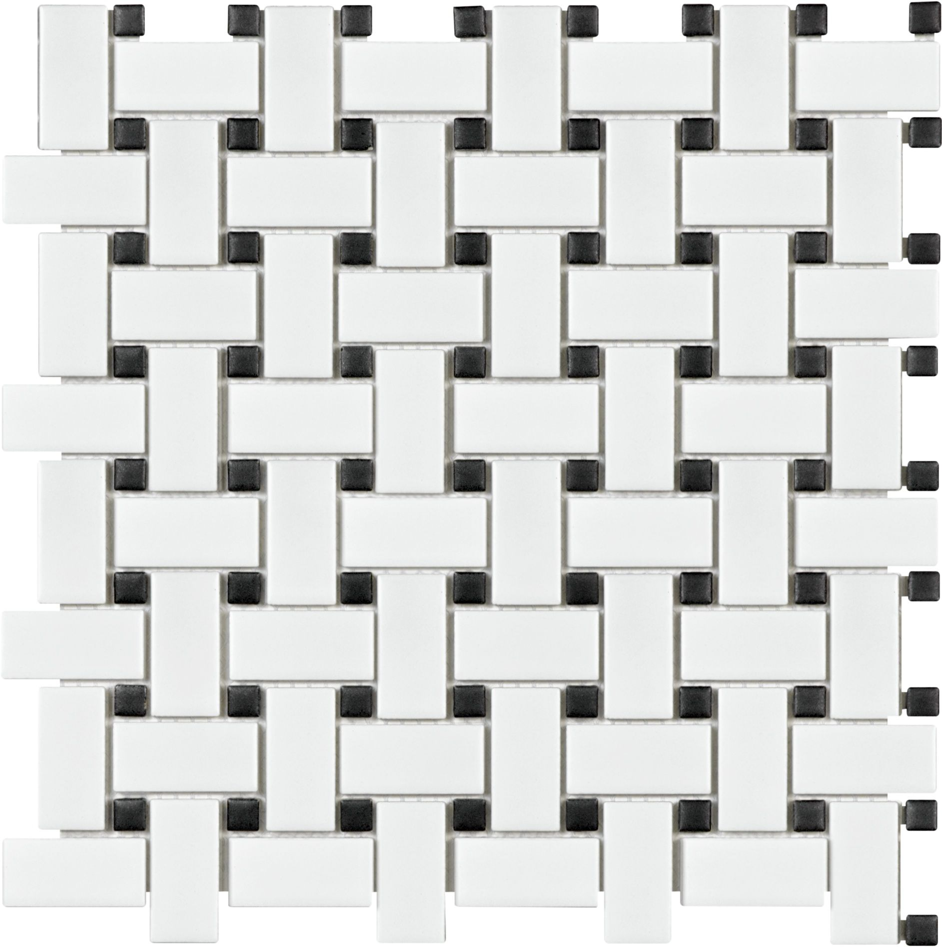 Basketweave mosaic soho white black basketweave tile ceramic basketweave mosaic soho white black basketweave tile ceramic dailygadgetfo Gallery