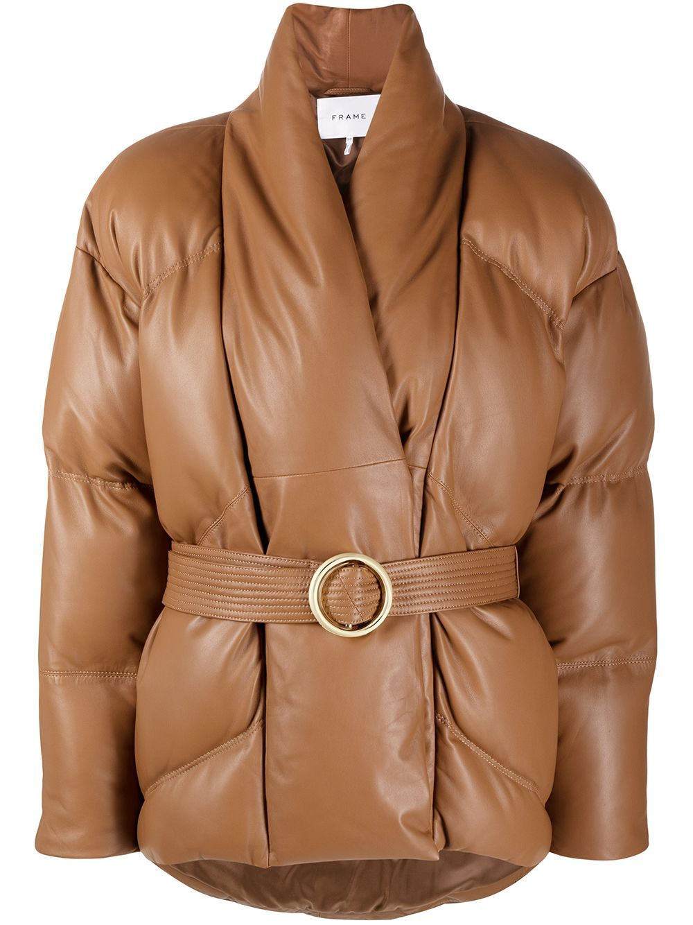 Frame Wrap Leather Puffer Jacket Farfetch In 2021 Leather Puffer Jacket Jackets Puffer Jackets [ 1334 x 1000 Pixel ]