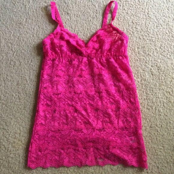 Pins & Needles Tops - 💋Hot Pink Lace Cami