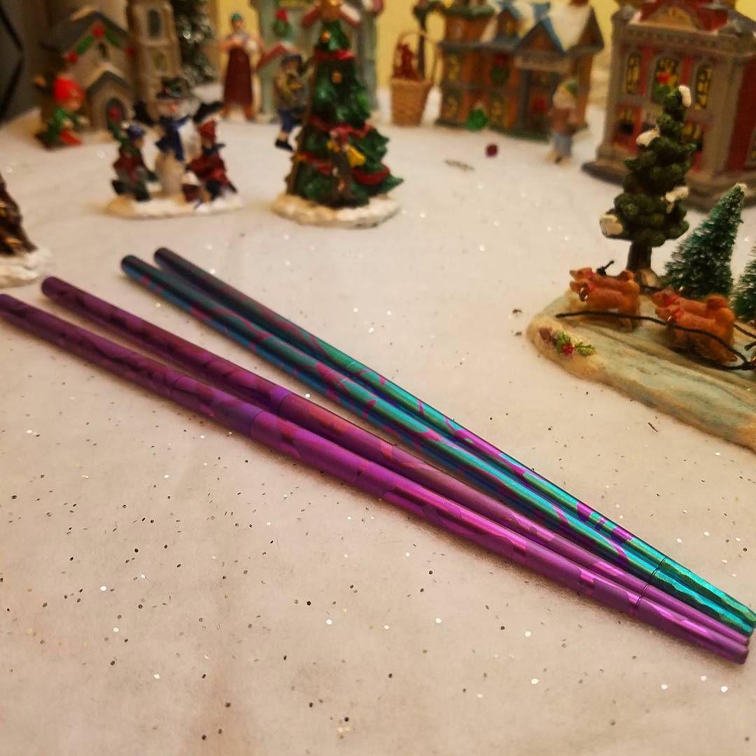 Titanium chopsticks www.tisurvival.com #tisurvival #titanium #edcgear #chopsticks #christmassgift