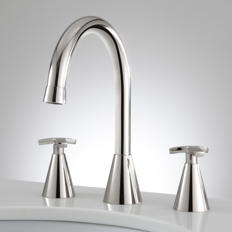 Verve Widespread Bathroom Faucet - Cross Handles - Chrome | Bathroom ...