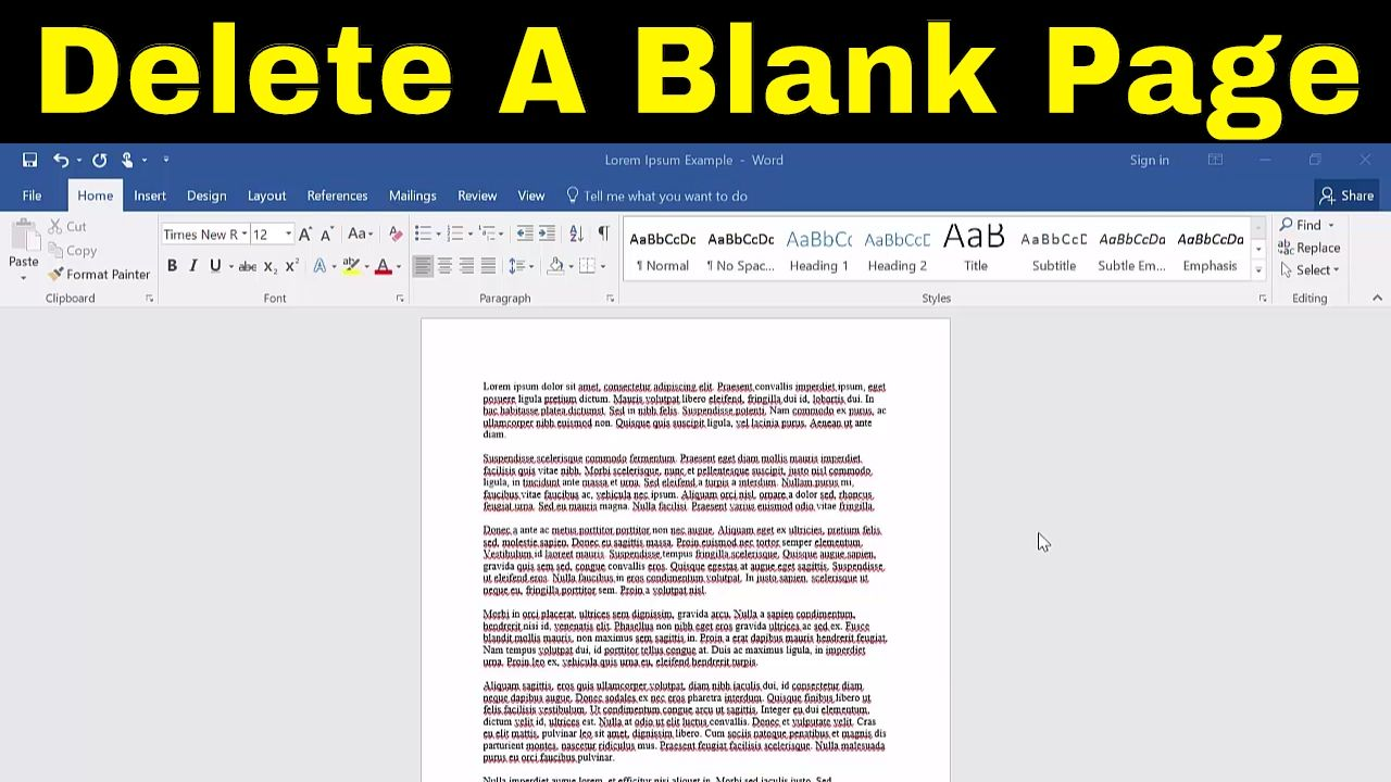 Delete The Page In Word Is One Of The Most Basic And The Recurring Task That You Are Going To Do While Working In The Ms Word Since We Words Ms