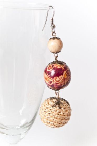crochet bead earrings | Creativity! | Pinterest | Schmuck häkeln ...