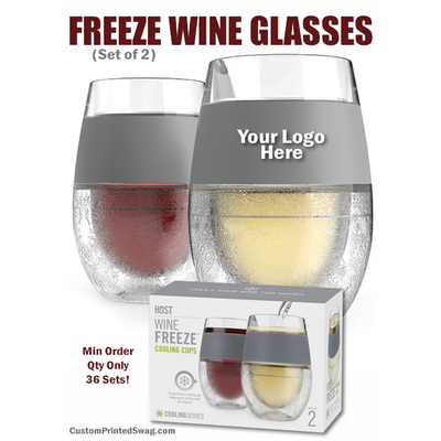 Freeze Cooling Wine Glasses Customized Gifts For Wedding