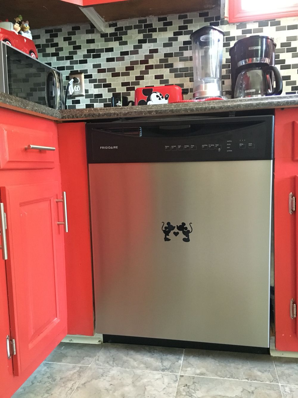 Mickey mouse dishwasher decals