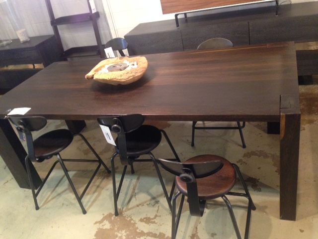 Kota Dining Table Seared Oak By NUEVO Living V36 Chair Direct Furniture Outlet