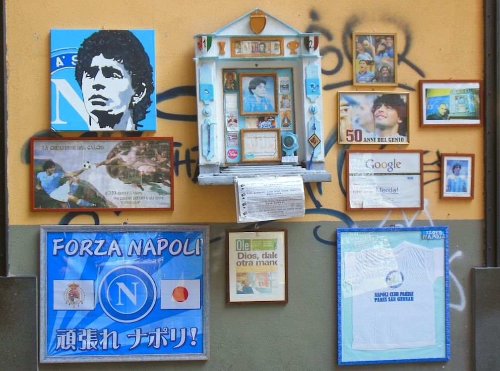 Shrine to Maradonna in Spaccanapoli! Naples, Sept 2013