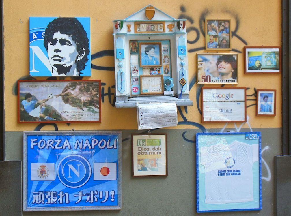 Shrine to Maradonna in Spaccanapoli! Naples, Sept 2013