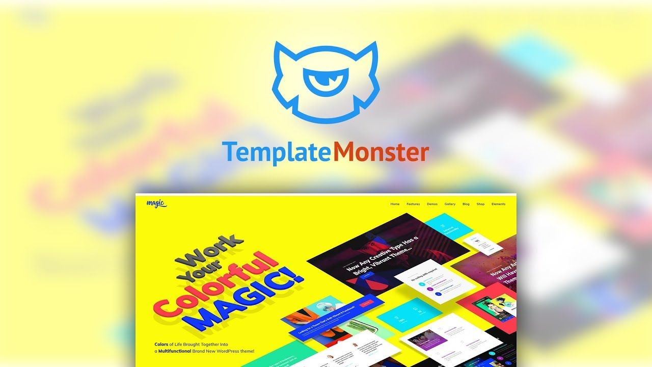 Magic is a multipurpose WordPress theme with stylish colorful appearance and lots of skins and customization options