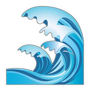 Wave Emoji Ocean Wave Emoji Stick...