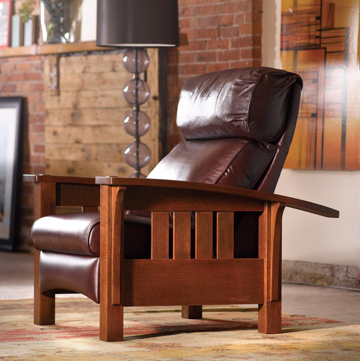 Stickley Morris Recliner Leather living room furniture