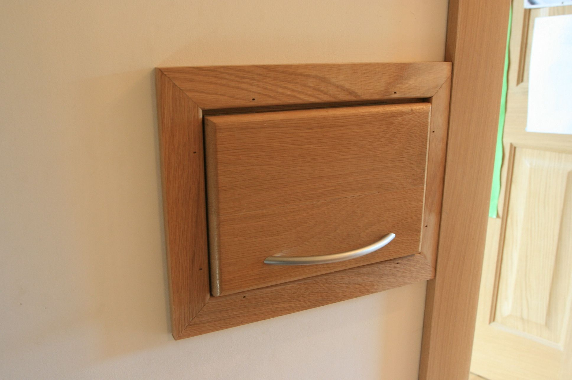 laundry chute with fire-retarding flap | ideas for the laundry room
