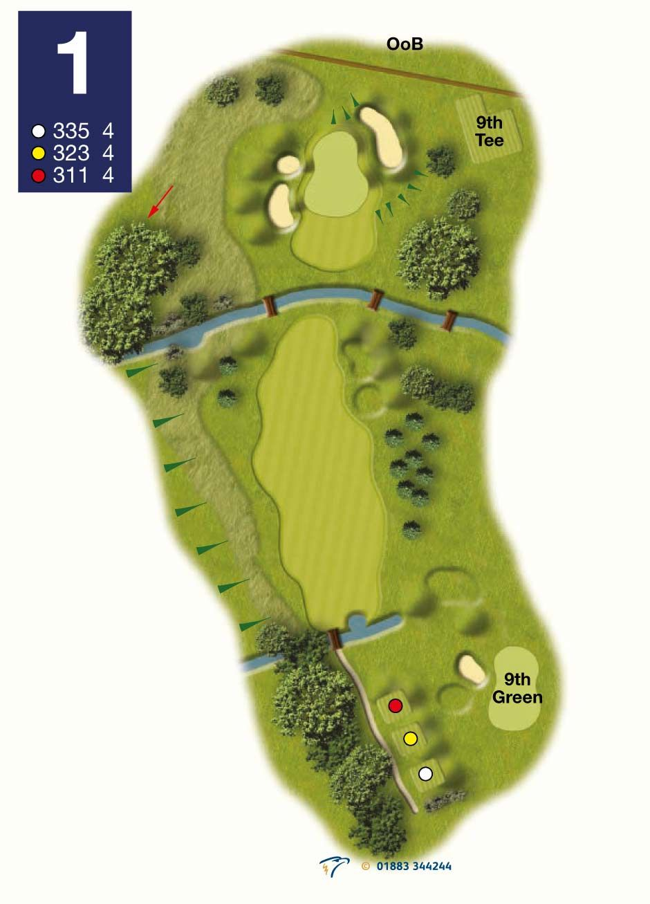 Golf Course Map Hole Guide Reigate Hill Golf Club Map Golf Courses Golf Holes